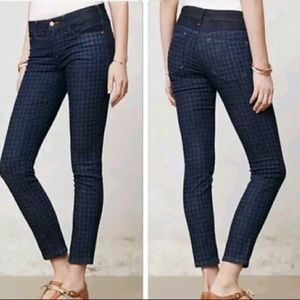 Pilcro and the Letterpress houndstooth jeans